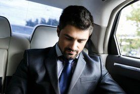 a corporate executive travelling
