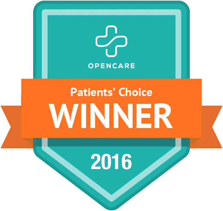 OpenCare Patients' Choice Winner 2016 Badge for Optometry