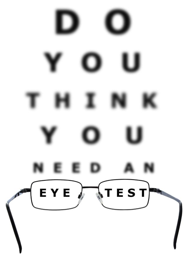 Snellen chart used for eye exams in San Jose, CA