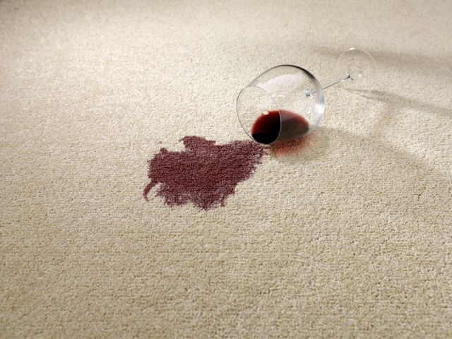 Stain removal treatments provided by a professional over the carpet
