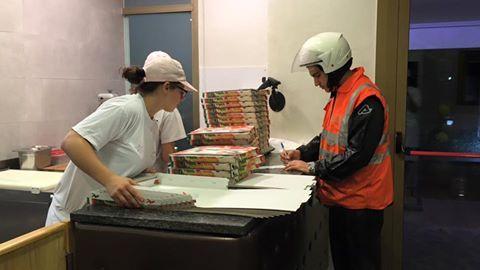 fattorino per consegna pizze a domicilio