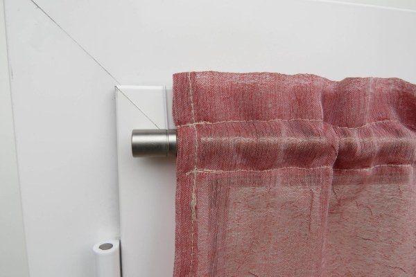 bastoncino klipper con tendina su infisso in alluminio