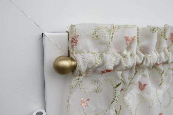 gancio klipper con tendina floreale