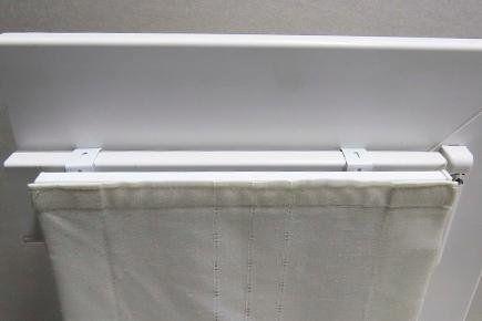 supporto Multiklip innestato su infisso in PVC