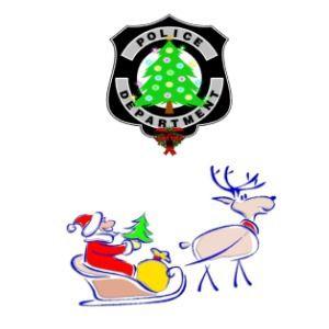 Christmas Police Dept Santa and Christmas Tree