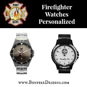 Personalized Firefighter Watches