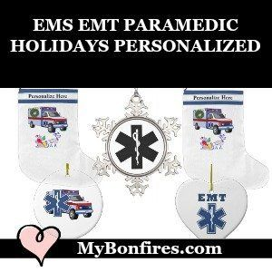 Christmas Ornaments for EMS EMT Paramedic Families