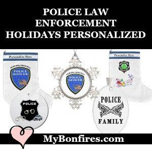 Police Christmas Ornaments and Stockings Personalized