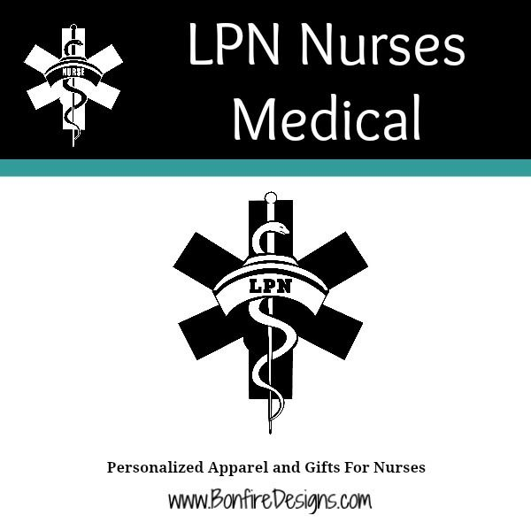 LPN Nurse Medical Symbol Of Pride