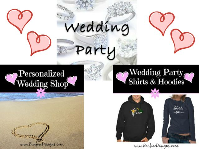 Wedding Party Favors, Gifts and Apparel