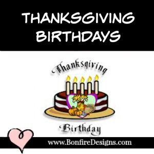 Thanksgiving Birthday