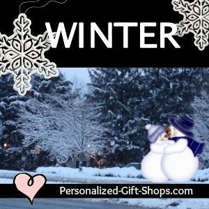 Winter Holiday Gifts Personalized