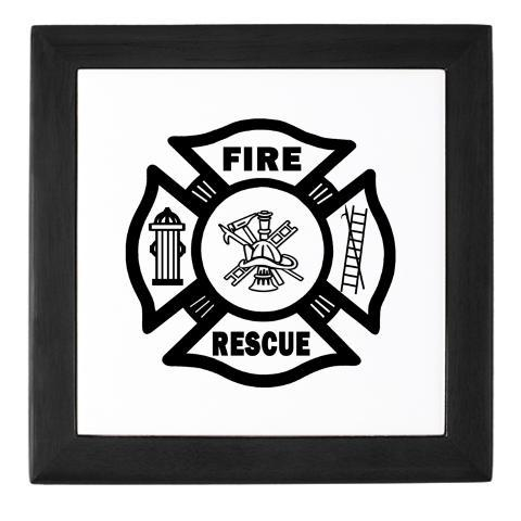 Firefighter Custom Tiles and Personalized Boxes