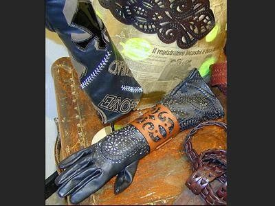 processing of leather for gloves