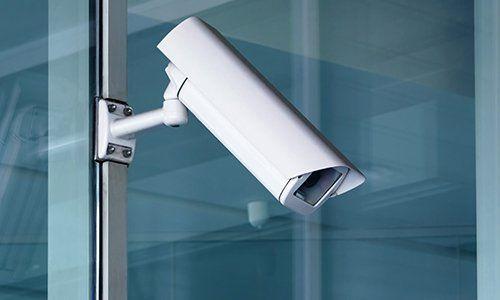 una videocamera di sicurezza