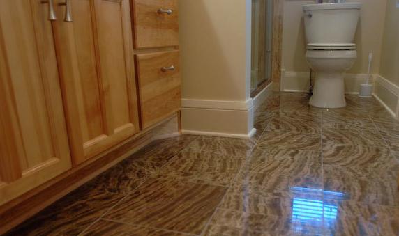 Modern bathroom with tiles
