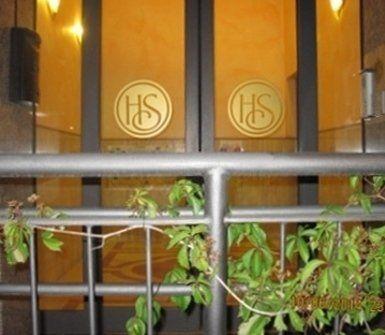 entrata dell'albergo