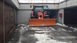 pulizia neve da strada