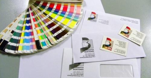 campionatura di colori