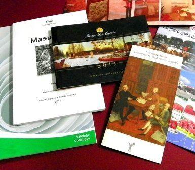 Cataloghi e presentazioni di vari eventi