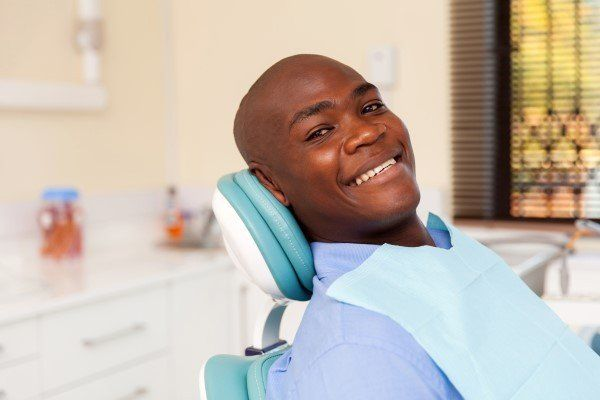 Man prepared for upcoming root canal treatment