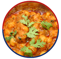 curry garnished with coriander