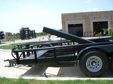 Side view of Tilt Trailer