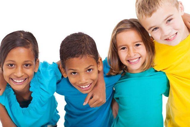 diverse children smiling