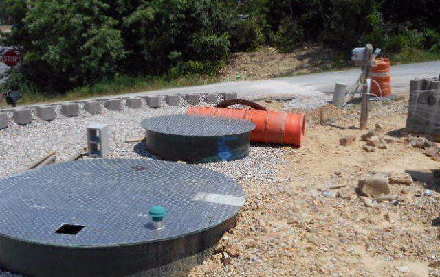 Homes 2 Suites sewer design Hot Springs, AR