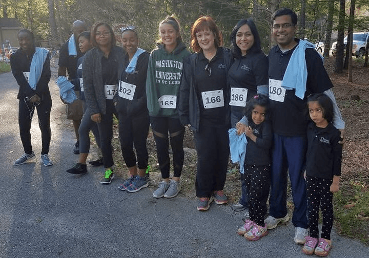 Athens TLC Dental and families running the 5K to support Athens Montessori  School & Project Safe