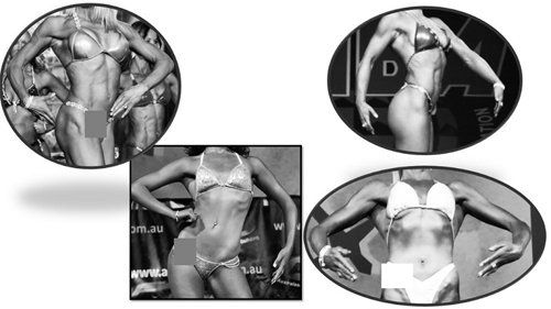 View of sculpted women body