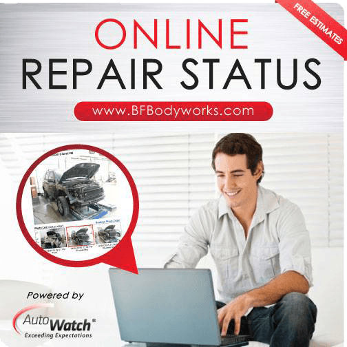 man online checking Repair Status, Online Repair Status, BF Bodyworks