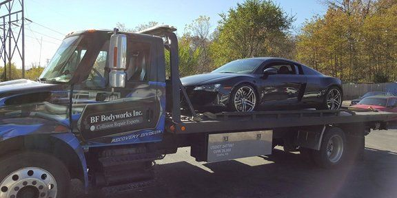 Towing, Truck Towing Car, BF Bodyworks Towing