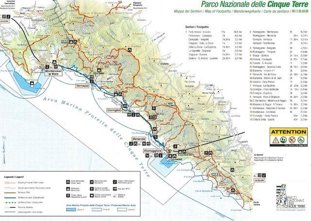 Corniglia Italy Map.Cinque Terre In Liguria Italy