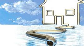 Disegno stilizzato di una casa e un tubo