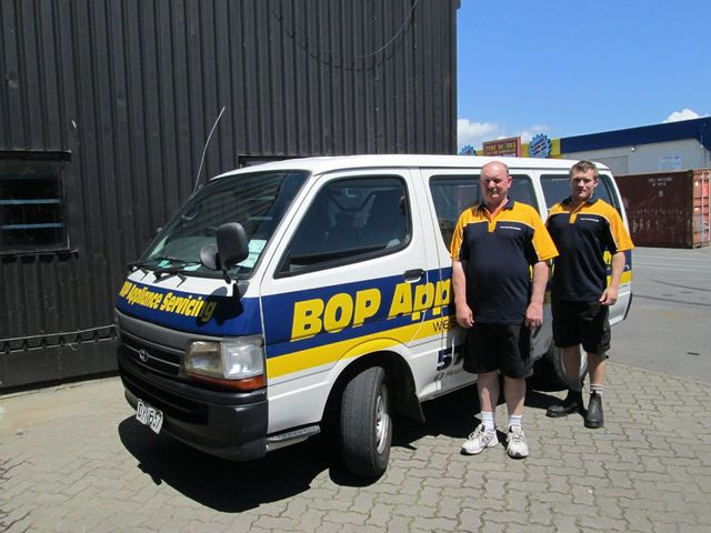 BOP whiteware team in Mount Maunganui