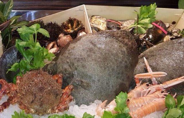 Pesci,scampi,ricci di mare,granchi,ostriche.....tutto fresco neo tratto del mare
