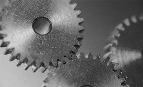 Close up of gears in a machine