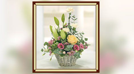 decorative basket arrangement