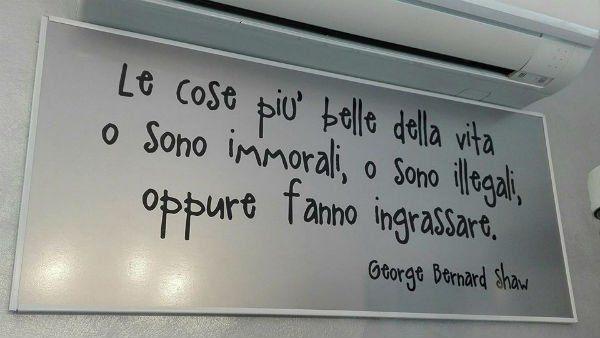 cartello con una frase di George Bernard Shaw