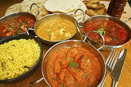 Food served in one of the Indian restaurants in Haddenham