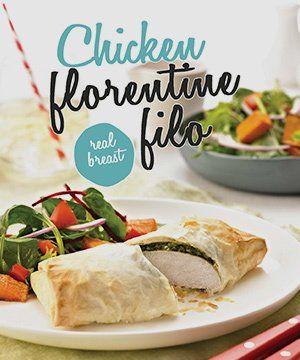 Chicken florentine Filo