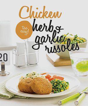 Chicken herb & garlic rissoles