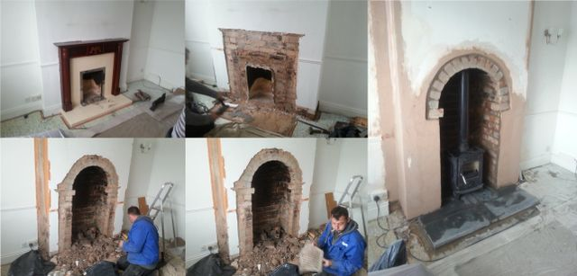 fireplace installed