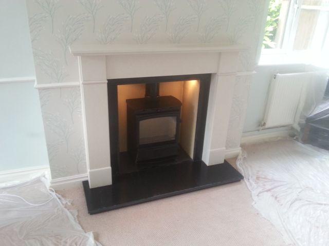new fireplace installation