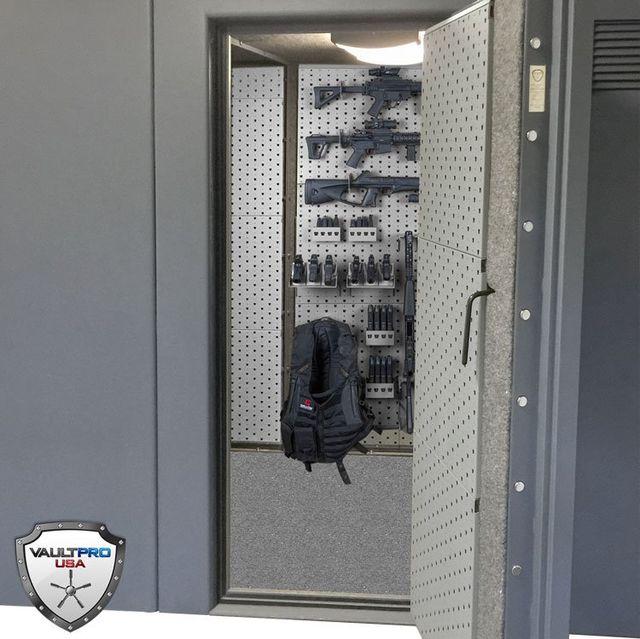 Modular Gun Racks And Weapons Storage Rack Mounted On Safe Door