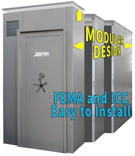 Pleasing Modular Storm Shelters And Safe Rooms To Fema Icc Vault Home Interior And Landscaping Mentranervesignezvosmurscom