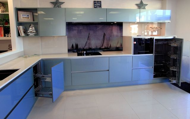 Blue theme kitchen design