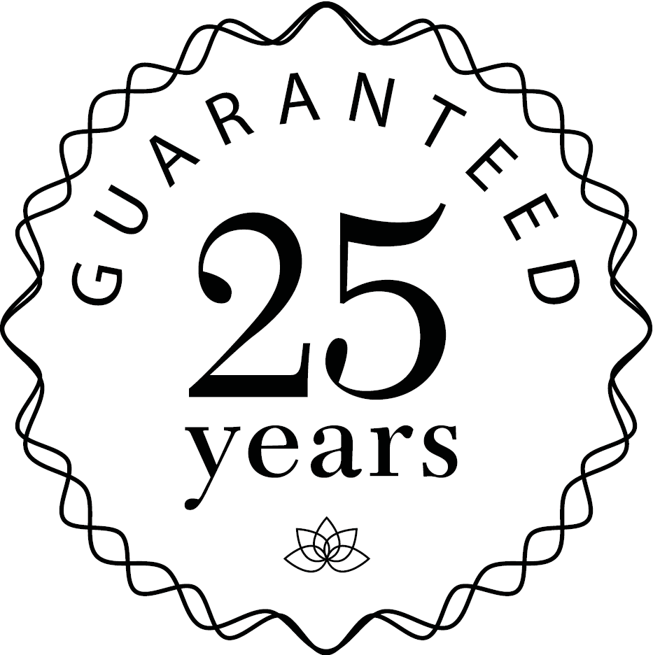 25 year Guaranteed logo