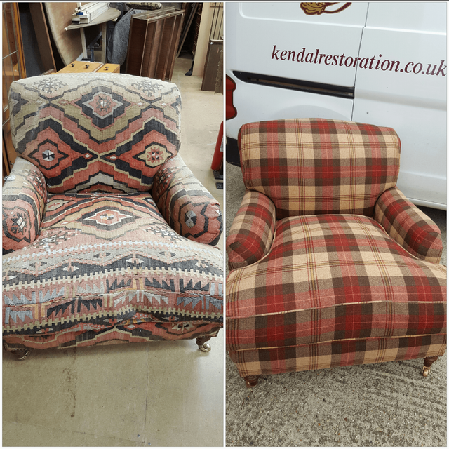 Chair Before And After Restoration